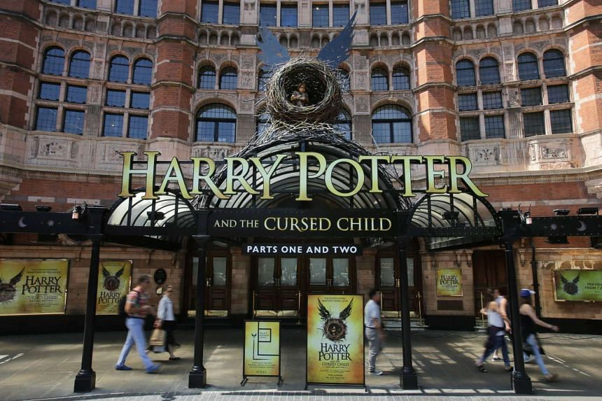 The front of the Palace Theatre promotes its new show Harry Potter And The Cursed Child in London on June 6, 2016.