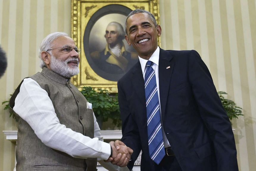 Obama and Modi meet in the Oval Office of the White House on June 7, 2016.