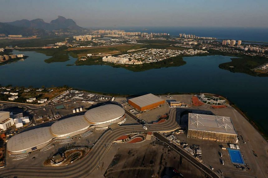 An aerial view of the Rio Olympics Park in Rio de Janeiro, Brazil, in April 2016.