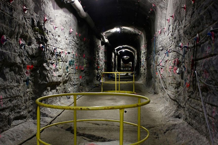 The world's first underground repository for highly radioactive nuclear waste at the Olkiluoto nuclear power plant in western Finland. Most nations keep the waste above ground in temporary storage facilities.