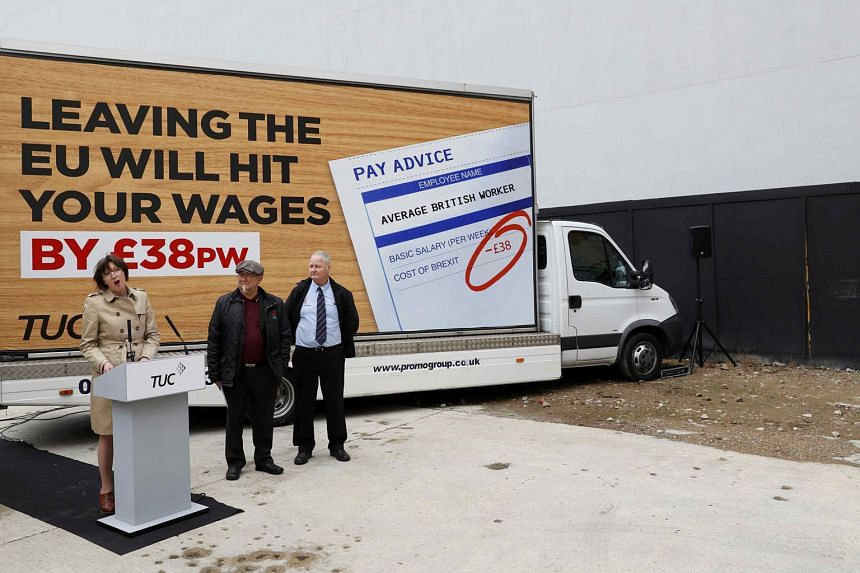 TUC general secretary Frances O'Grady urging British workers to vote to remain part of the EU, at the launch of a poster campaign last week.