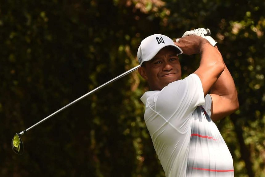 Woods in action at the Augusta Masters in April 2015.