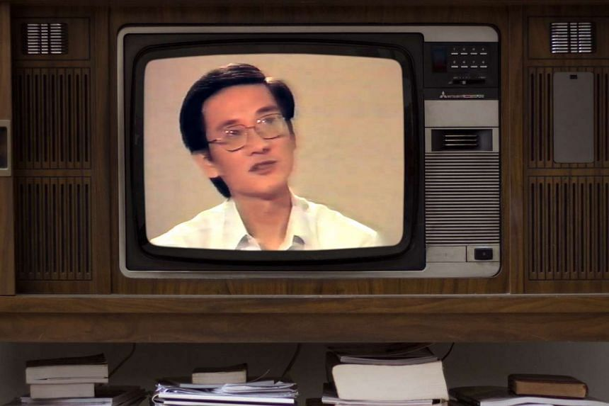 A cinema still from 1987: Untracing The Conspiracy showing ex-detainee Vincent Cheng in 1987.