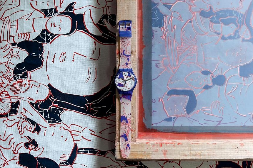 Juliana Ong's design features comic faces and figures inspired by images on Chinese burial ornaments.
