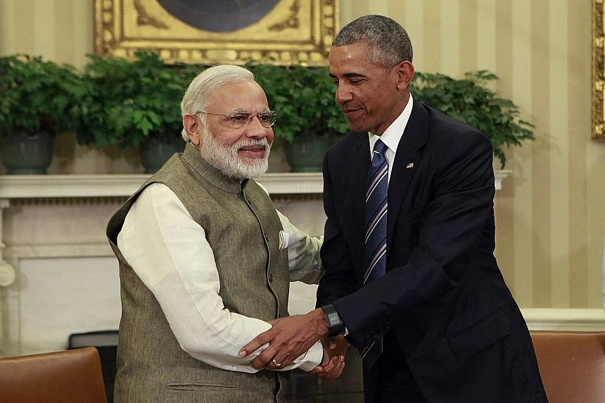 Mr Modi meeting Mr Obama in the Oval Office at the White House on Tuesday. At the meeting, the leaders kept their focus on the growing friendship between India and the US.