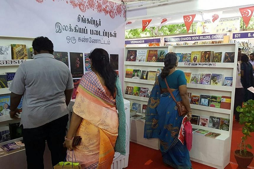 The Singapore Pavilion at the Chennai Book Fair boasts about 120 titles by Singapore Tamil writers and will present daily programmes such as panel discussions and meet-the-author sessions.
