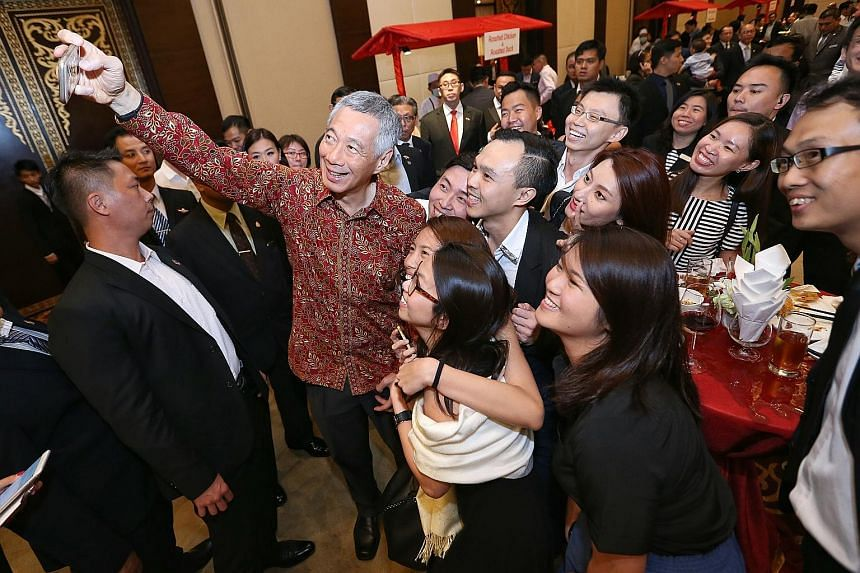 PM Lee at a reception yesterday with Singaporeans working in Yangon, held at Sedona Hotel, which is built by Singapore developer Keppel Land. The Singaporean community in Myanmar has grown from 150 a decade ago to at least 500 now. And the number loo