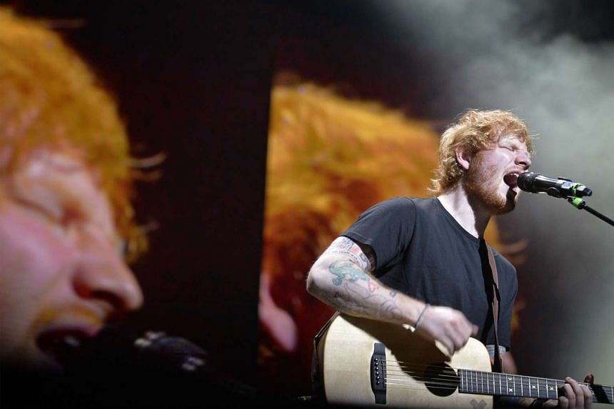 British singer-songwriter Ed Sheeran at his first show in Singapore on March 14, 2015.
