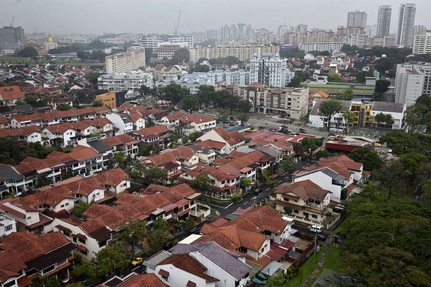 An aerial view of the private estates in Upper Thomson on February 20.