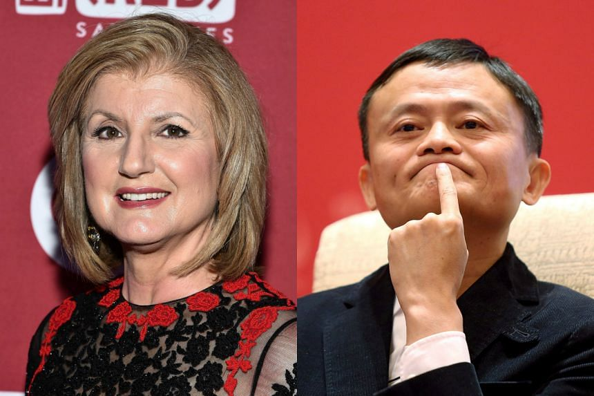 Ms Huffington (left) has held talks with investors about a new media company called Thrive, and Alibaba's Jack Ma has agreed to back it.