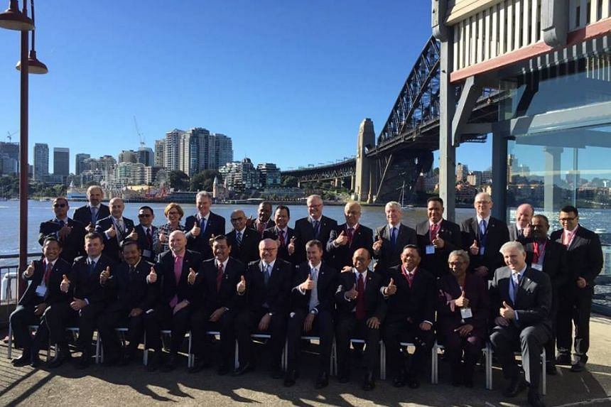 Indonesian and Australian ministers at a high-level meeting of security officials from both countries in Sydney.