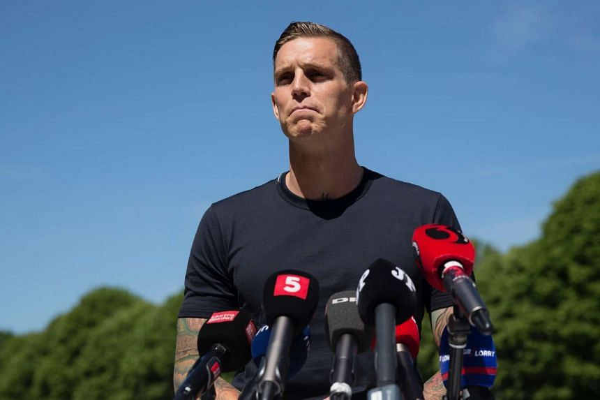 Brondby defender Daniel Agger announcing his retirement at a press conference in Hvidovre, Denmark, on June 9, 2016.