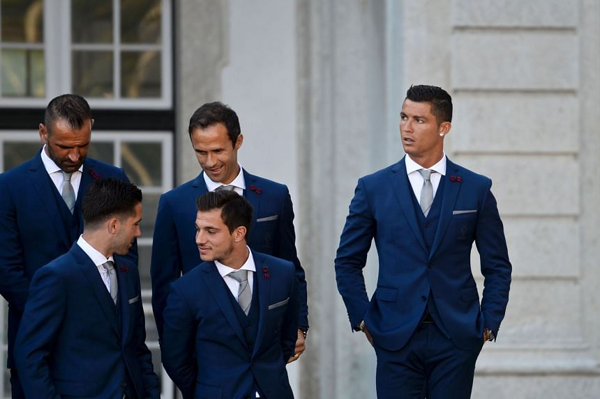 Portugal's Cristiano Ronaldo (right) and his national team-mates visiting the Belem Palace in Lisbon before their departure for the Euro 2016 Finals in France. All eyes will be on the Real Madrid forward, but Portugal will need the entire team to perform
