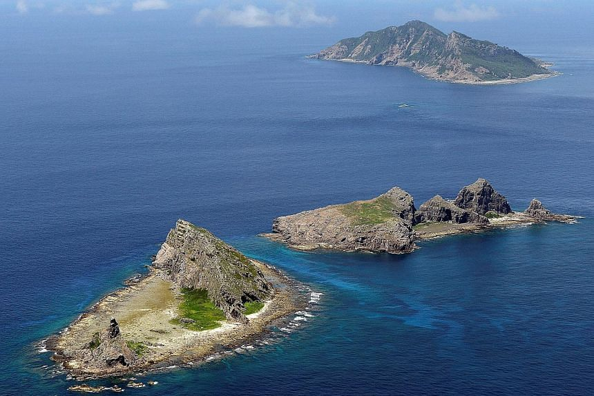 The disputed group of islands in the East China Sea known as Senkaku in Japan and Diaoyu in China.