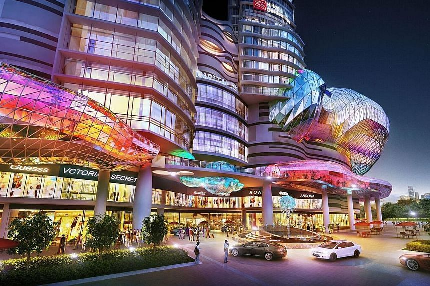 An artist's impression of Capital City Property's first development, Capital City, which will be completed in 2018. Catalist-listed Terratech will pay for the acquisition of the property developer by issuing 4.29 billion new shares to Capital City at