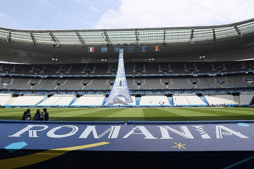 The Stade de France in Saint-Denis, north of Paris, will be the venue of tonight's opening match between hosts France and Romania. The curtain-raiser will be the first of 51 matches in 31 days.