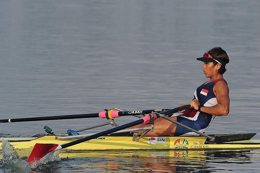 """Saiyidah Aisyah is the first Singaporean rower to qualify for the Olympic Games. Racing, she said, is """"90 per cent mental, and it's not something you can just visualise and perform the next day, but something that you have to build up through months"""
