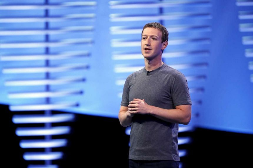 Mark Zuckerberg speaking at the Facebook F8 conference in San Francisco on April 12.