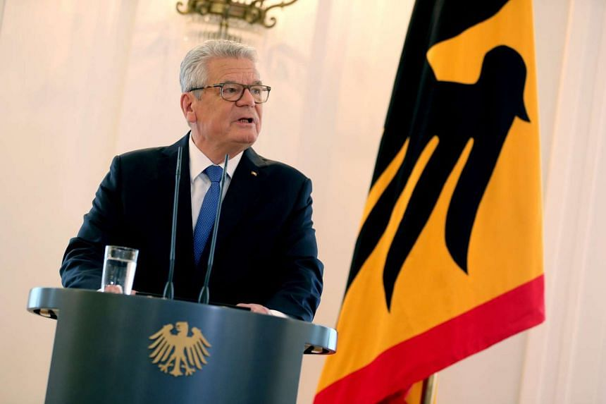 """There are people who want to hurt others,"" said Gauck (above)."