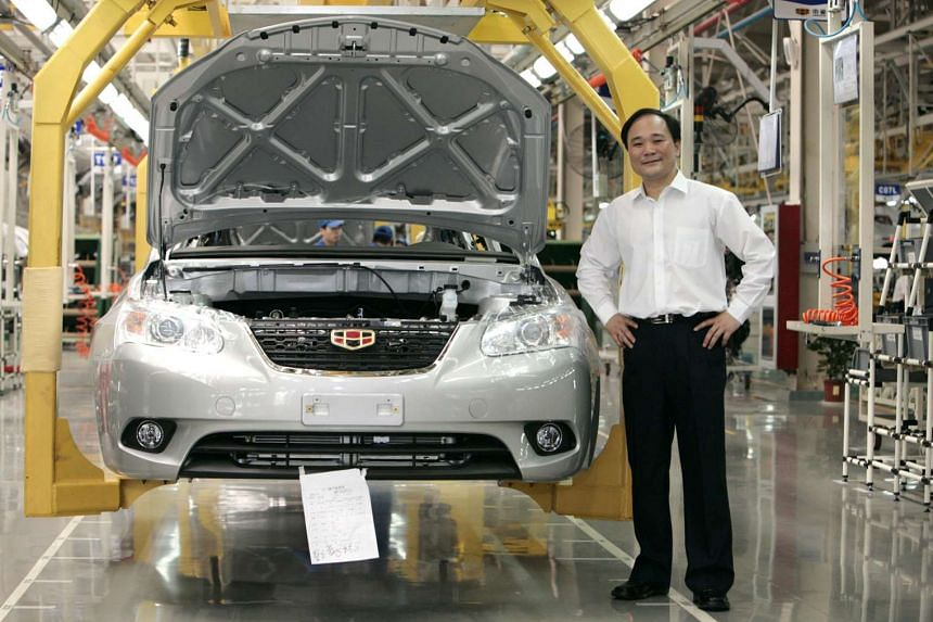 Li Shufu, chairman of Zhejiang Geely Holding Group, at an assembly line in Ningbo, China, in 2009.