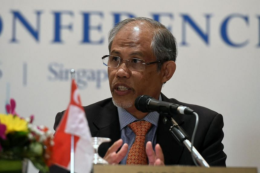 Environment and Water Resources Minister Masagos Zulkifli attending a press conference at the Sub-Regional Ministerial Steering Committee meeting on Transboundary Haze Pollution in Singapore on May 4.