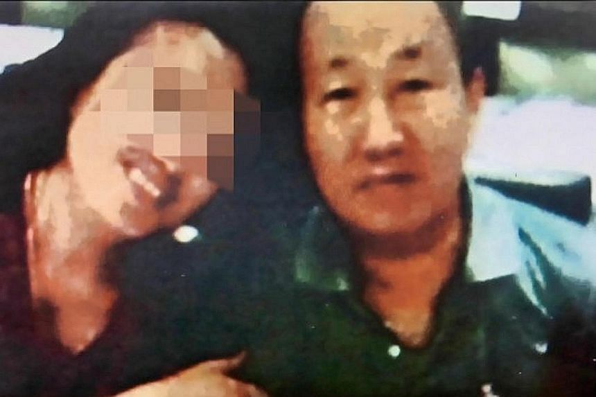 Far left: Huang, 55, and Mr Pua were acquaintances 30 years ago and met again in 2014 when he went to Taiwan to seek treatment for his diabetes. She allegedly married him to get his wealth. Left top: Huang being arrested on Tuesday by Taiwan police o