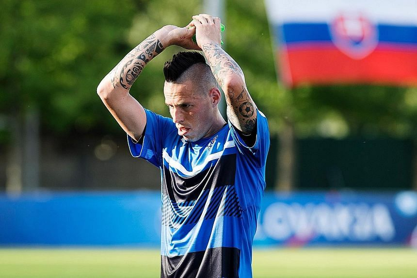 Wales' Gareth Bale (left) and Slovakia's Marek Hamsik are their countries' key players in today's Group B opening match.Both were the top scorers in their countries' respective Euro qualifying campaigns and will be seeking to continue their scoring s