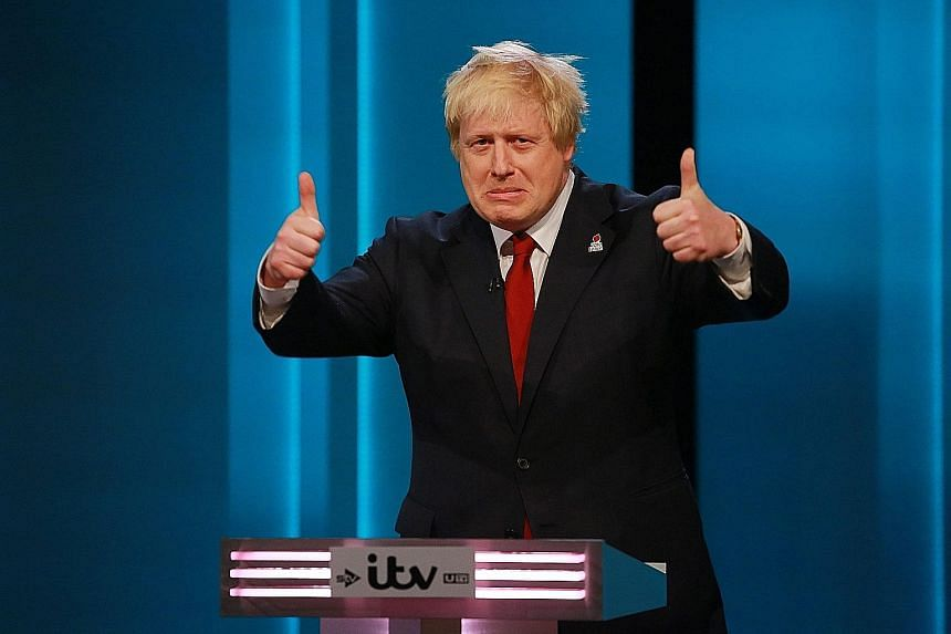 Mr Johnson during the debate on the referendum to decide whether Britain should stay in the EU or leave. The attacks on him will do little to dispel the growing image of a divided Conservative Party.