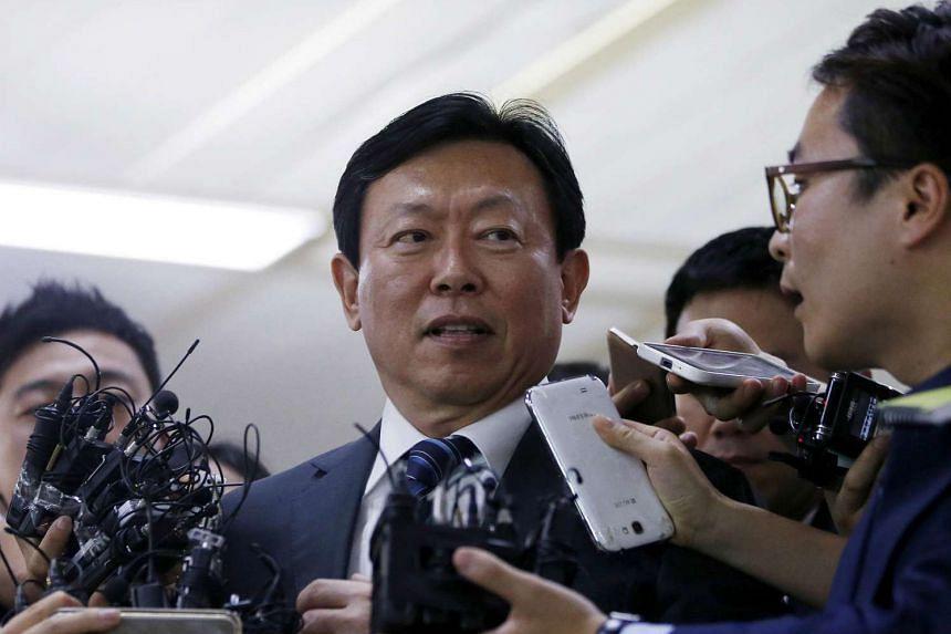 Lotte chairman Shin Dong Bin.