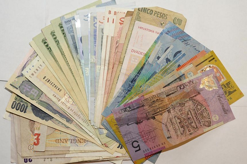 A stack of foreign currency.