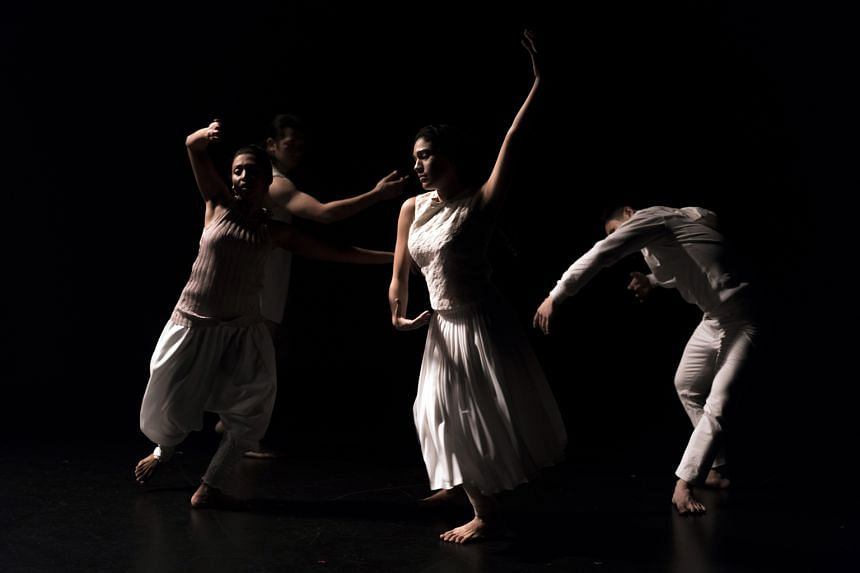 The fluid movements of the dancers complement the music well.