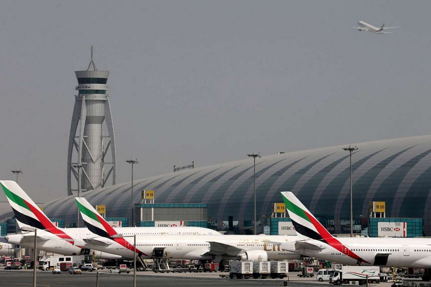 Emirates Airlines aircrafts are seen at Dubai International Airport, United Arab Emirates on May 10, 2016.