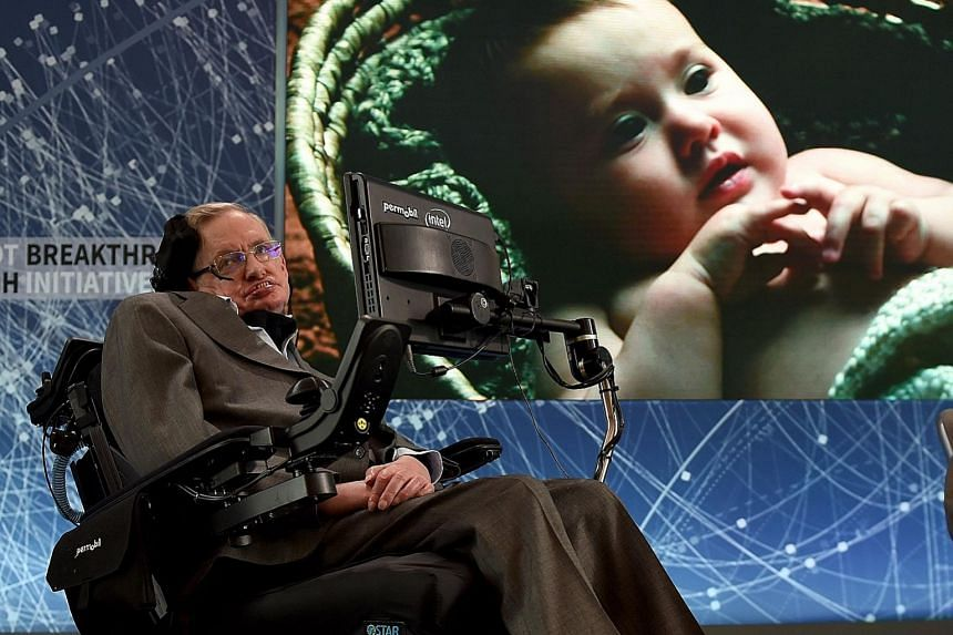 Hawking at New York's One World Observatory in April to announce a new breakthrough initiative focusing on space exploration. A Nasa photo in 2003 showing the longest X-ray look yet at the super-massive black hole at the Milky Way's centre. The data