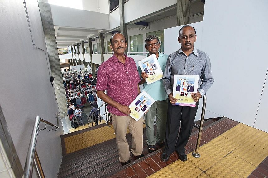 (From left) Mr Anandam Thomas, Mr Manokaran Ramasamy and Mr Gopinathan Ramasamy are among 33 investors trying to sell back land in Chennai that they bought from Singapore-registered KMGM International. They say the land has not been developed and has