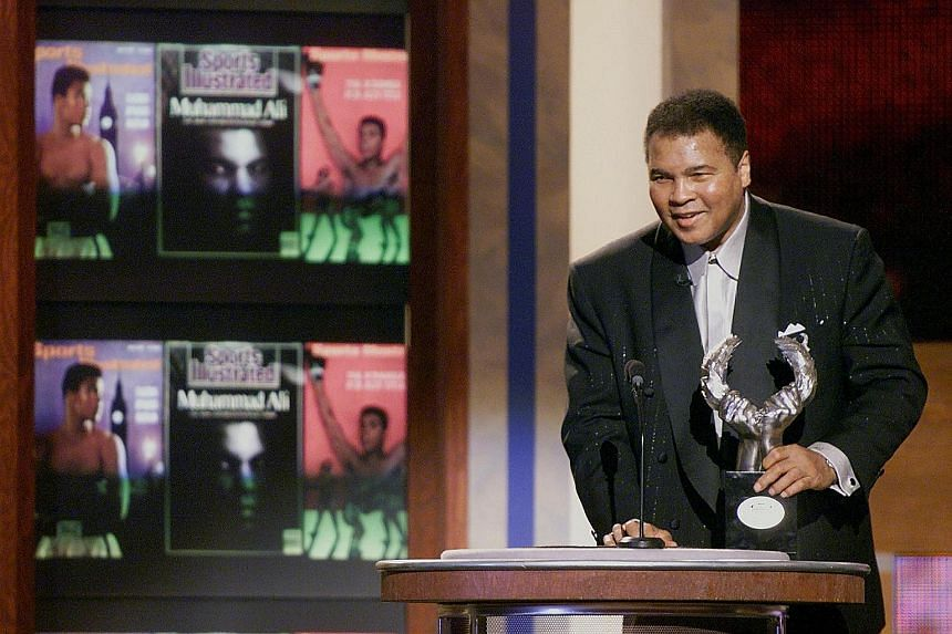December 1999 The boxing legend accepts his Athlete of the Century award at the Sports Illustrated 20th-Century Sports Awards in New York.