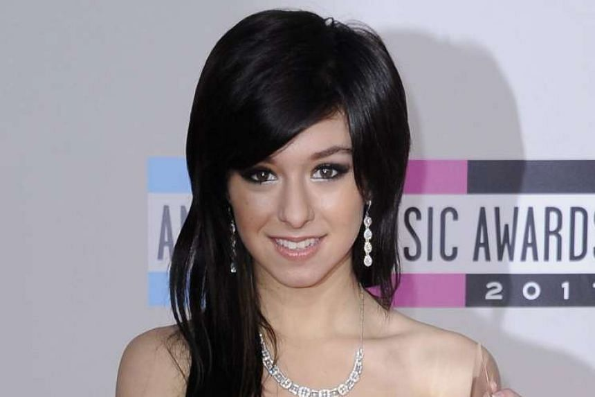 US singer Christina Grimmie in a 2011 file photo.