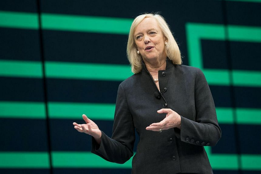 Meg Whitman, chief executive officer of Hewlett Packard Enterprise Co., speaks during the HP Discover 2016 Conference in Las Vegas, Nevada.