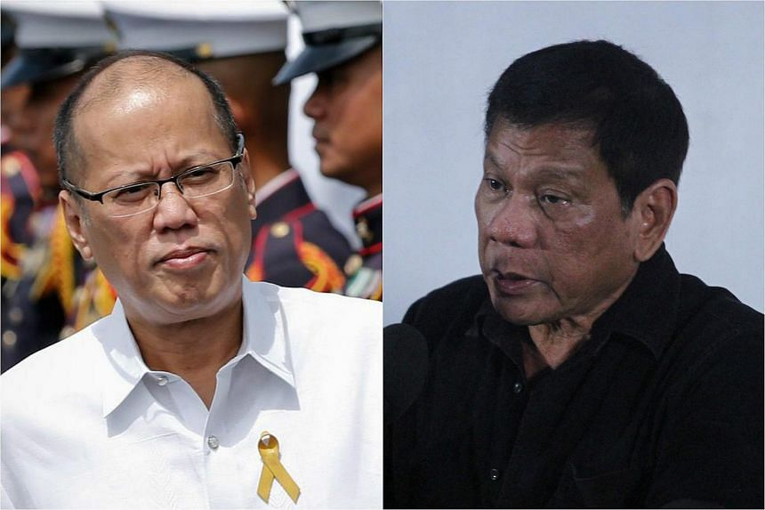 Philippine leader Benigno Aquino and president-elect Rodrigo Duterte.