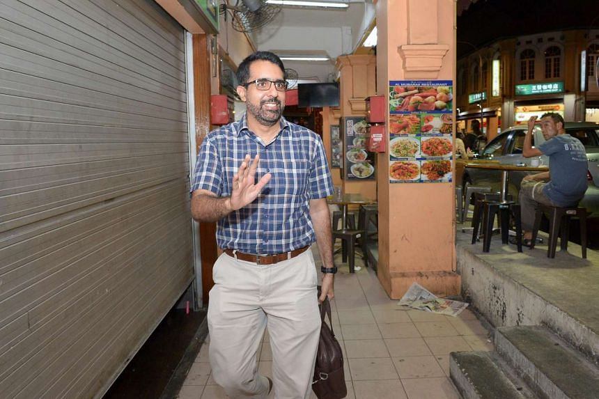 Aljunied GRC MP Pritam Singh outside the Worker's Party HQ after the office-bearers were determined on June 7, 2016.