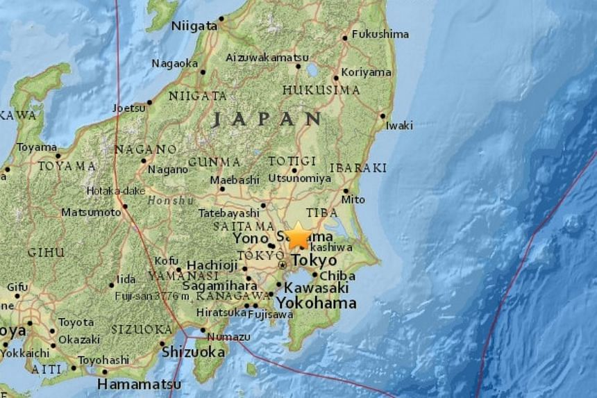 An earthquake with magnitude 4.9 occurred near Tokyo on Sunday (June 12) morning.