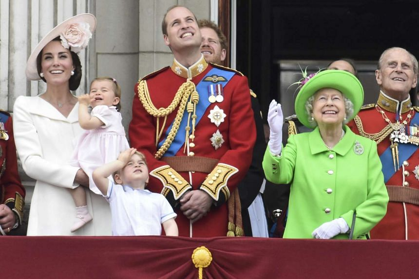 Princess Charlotte and Queen Elizabeth II's vivid green outfit took centrestage.