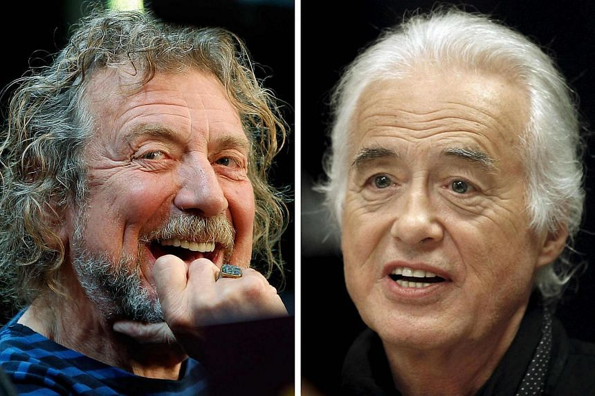 Lead singer Robert Plant (left) and guitarist Jimmy Page of the British rock band Led Zeppelin are shown in these Oct 9, 2012 and July 21, 2015 combination file photographs in New York and Toronto.