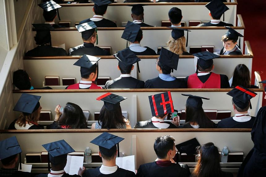 Graduating students at a service before the 365th Commencement Exercises at Harvard University in Cambridge, Massachusetts, US, on May 26.
