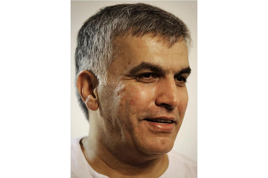Bahraini human rights activist Nabil Rajab at his home in the village of Bani Jamrah, on July 14, 2015, after his release from prision.