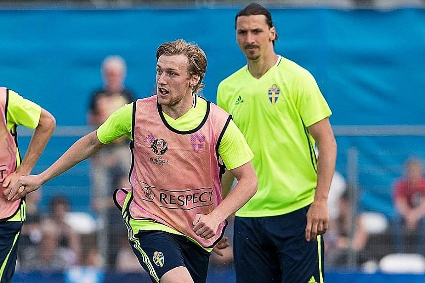 The partnership of Emil Forsberg (front) and Zlatan Ibrahimovic will be vital for a Sweden side looking to start their campaign with victory over Ireland. A win for either team would go a long way to boosting their prospects of reaching the last 16 f