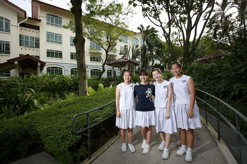 The boarding programme taught Nanyang Girls' High students (left to right) Huimei, Elizabeth, Bin Bin and Yang Shixuanto be more independent and responsible.
