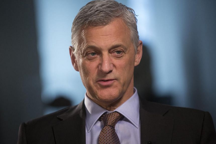 Bill Winters, chief executive officer of Standard Chartered Plc, speaks during a Bloomberg Television interview in London.