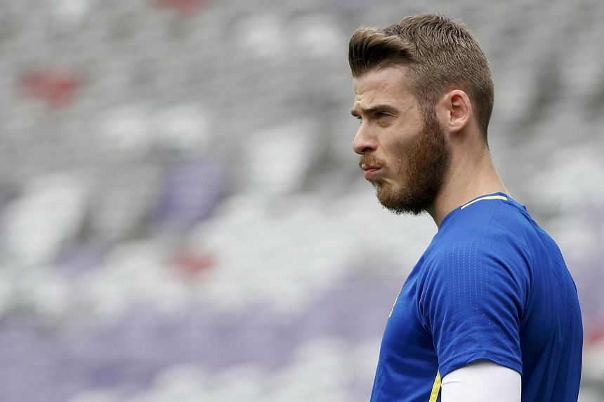 Spain's goalkeeper David De Gea during a training session on June 12.