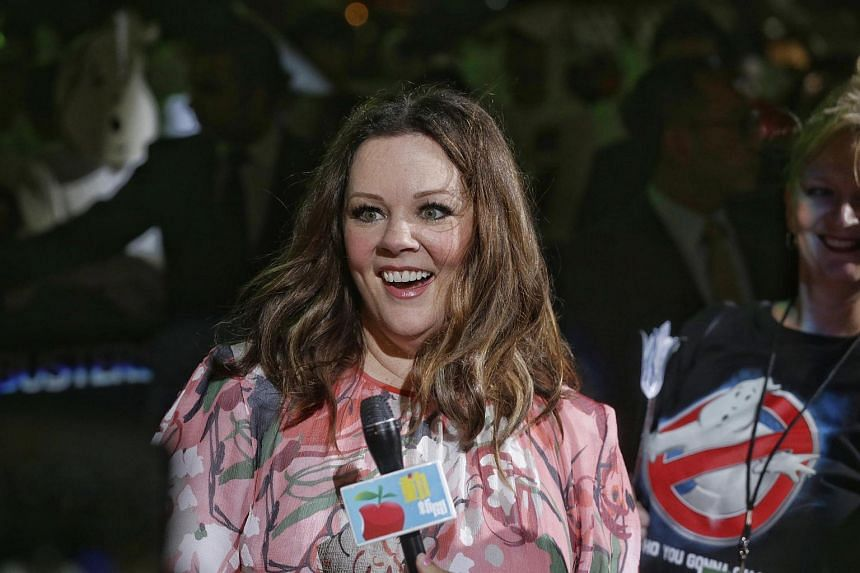 Ensemble cast member Melissa McCarthy attending the Ghostbusters red carpet at Marina Bay Sands on June 12.