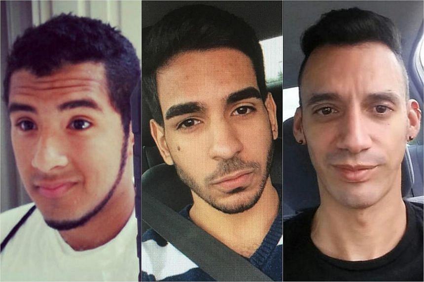 (From left)  Luis Vielma, Juan Ramon Guerrero and Eric Ivan Ortiz-Rivera are identified by the police as victims of the shooting massacre that happened at the Pulse nightclub of Orlando, Florida, on June 12.